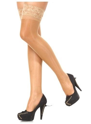 Pierre Cardin Silikonlu Jartiyer Çorabı Beyaz